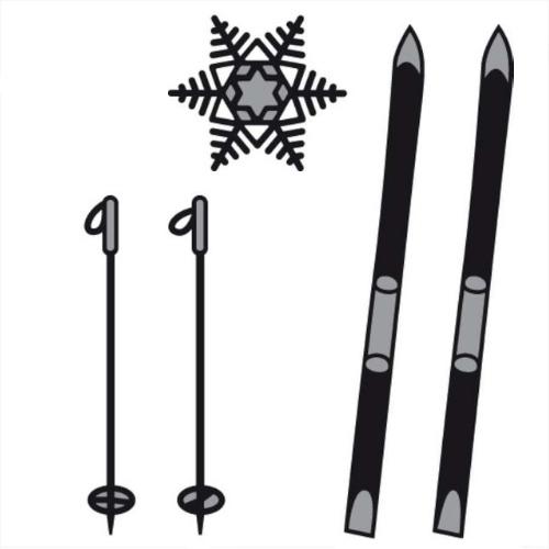 craftables stanzschablone ski eiskristall cr1252 g nstig. Black Bedroom Furniture Sets. Home Design Ideas
