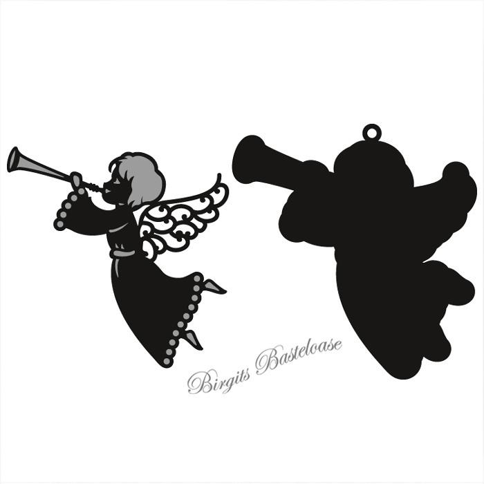 craftables stanzschablone engel mit trompete cr1295 kaufen. Black Bedroom Furniture Sets. Home Design Ideas