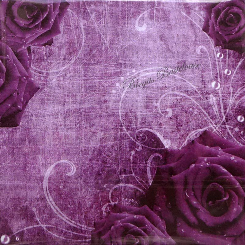 dixi craft design papier vintage blumen purple 15x15 paper. Black Bedroom Furniture Sets. Home Design Ideas
