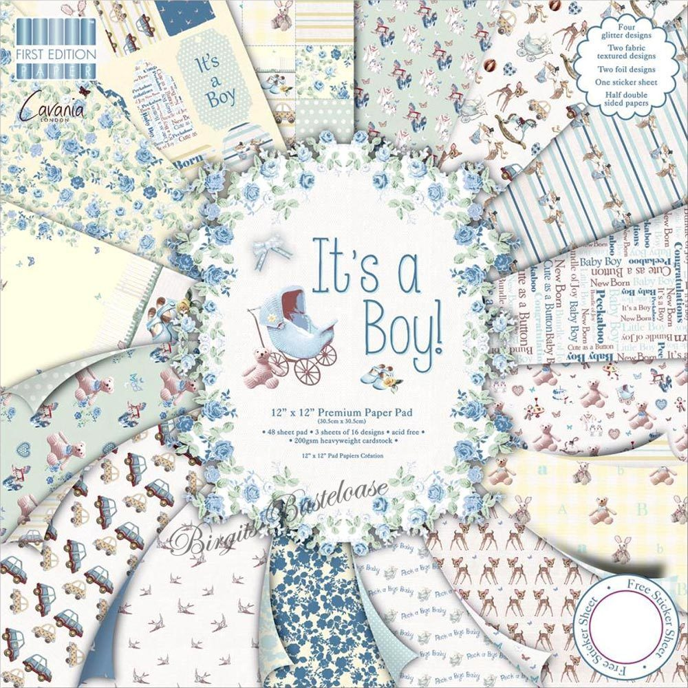 first edition it u0026 39 s a boy 30 x 30 paper pad baby kaufen