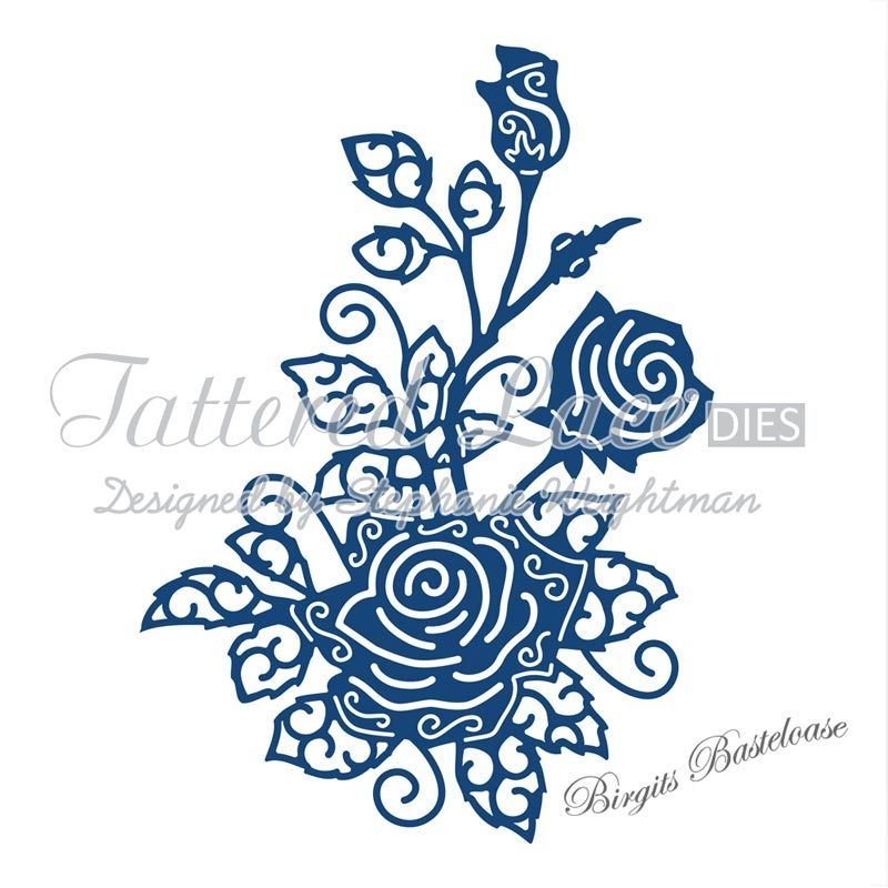Tattered lace stanzschablone