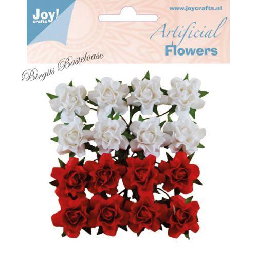 Joycrafts Paper Flowers Papier Rosen Rot Wei 0067 Kaufen
