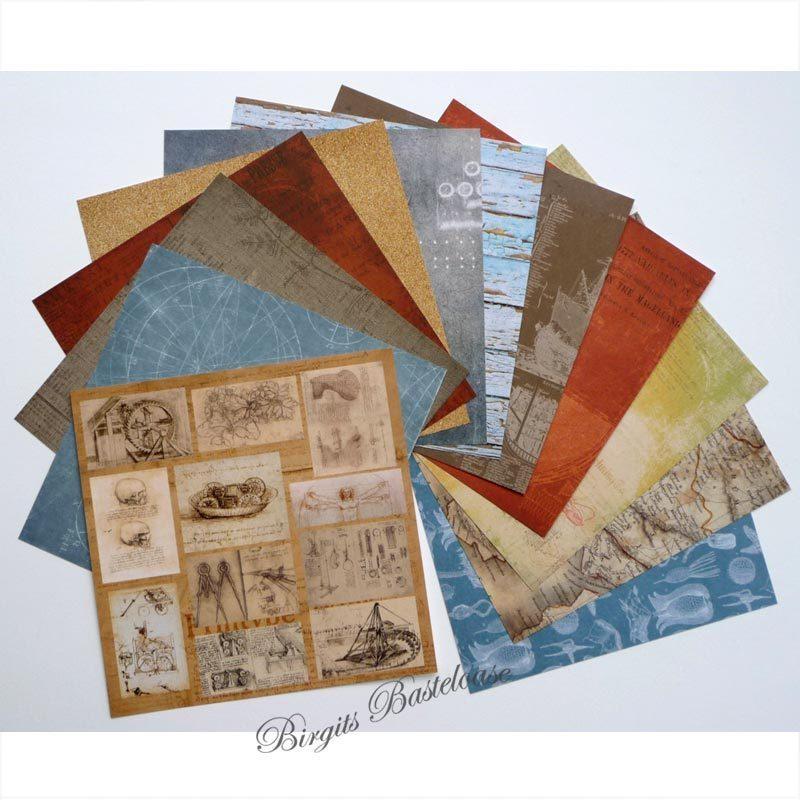 scrapberry 39 s paper pad antique shop 15x15 papier 6008 kaufen. Black Bedroom Furniture Sets. Home Design Ideas