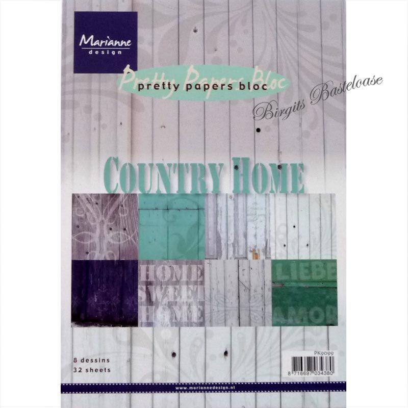 marianne design papier country home a5 paper bloc pk9099 kaufen. Black Bedroom Furniture Sets. Home Design Ideas
