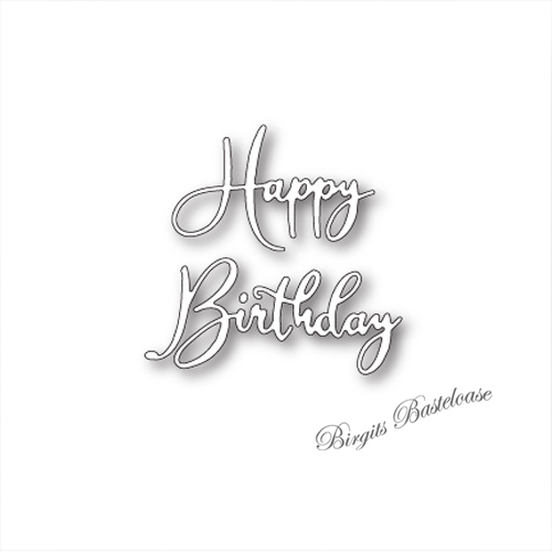 Memory Box Stanze Happy Birthday Friendship Script 99641