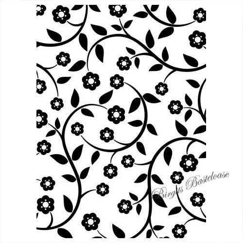 Prägefolder Embossing Folder Floral Vines D-115