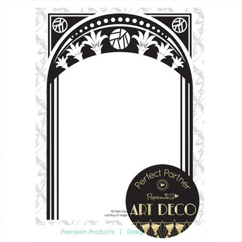 Prägefolder Embossing Folder Art Deco Frame XCU515119