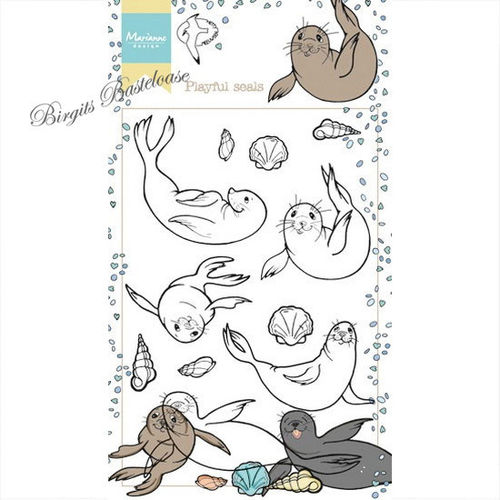 Marianne Design Clear Stamp Playful seals Robben HT1621