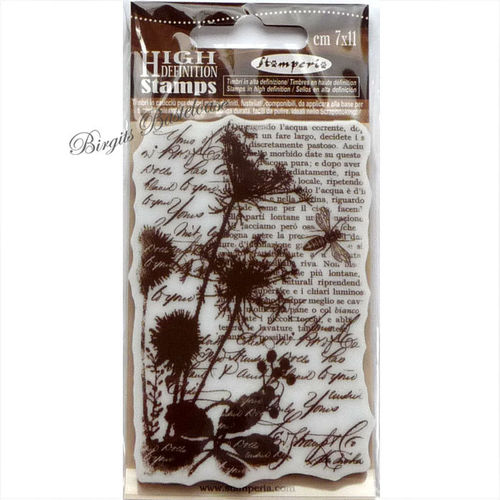 Stamperia Stempel Collage Blume WTKCC74