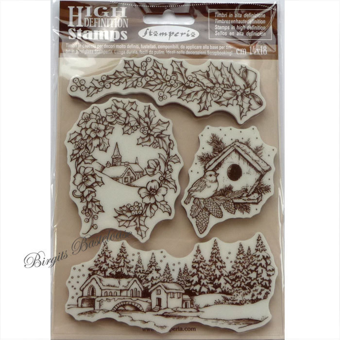Definition Weihnachten.Stamperia Stempel Weihnachten Winter Wtkcc110