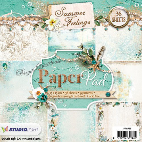 StudioLight Paper Pad Summer Feelings 15x15 cm PPSF53
