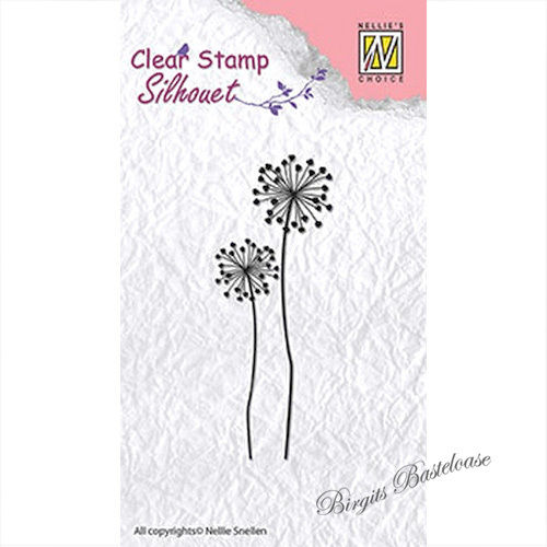 Nellie's Clear Stamp Flower 9 Blume SIL015