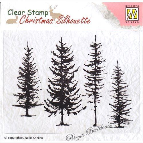 Nellie's Clear Stamp Pine Trees - Tannen CSIL004