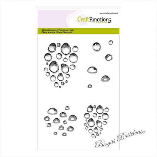 CraftEmotions Clear Stamps Wassertropfen 130501/1257