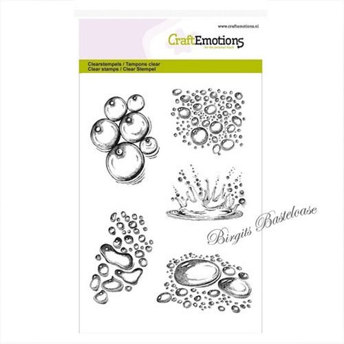 CraftEmotions Clear Stamps Wassertropfen splash 1265