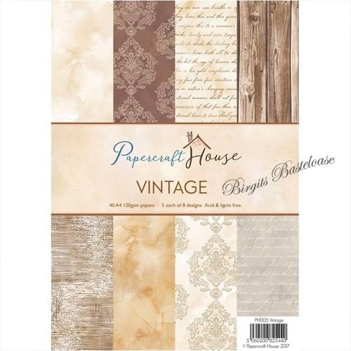 Wild Rose Studio A4 Paper Pack Vintage PH005