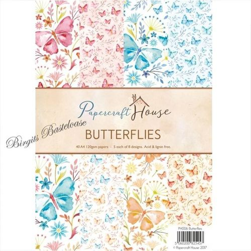 Wild Rose Studio A4 Paper Pack Butterflies PH006