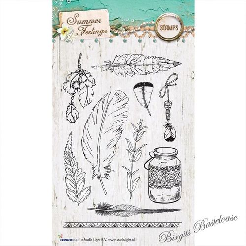Studio Light Clear Stamps Summer Feelings Federn STAMPSF189