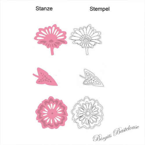 Collectables Stanzschablone Blume Blatt Clear Stamp COL1304