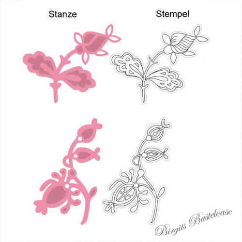 Collectables Stanzschablone Blume clear Stamp COL1305