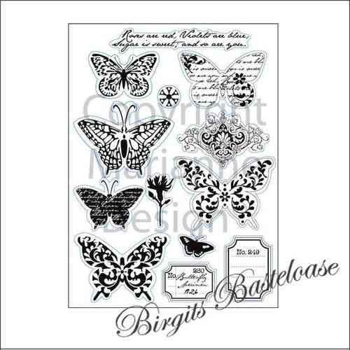 Marianne Design Clear Stamps Butterfly Schmetterling