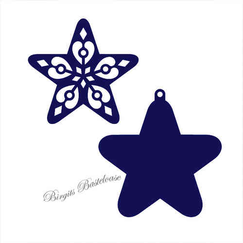 CrafTables Stanzschablone filigree star Stern CR1284