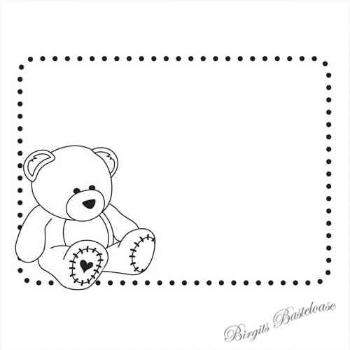Prägefolder Embossing Folder Teddy Baby D-551