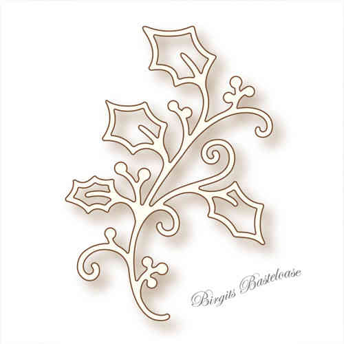 Wild Rose Studio Stanzschablone Holly Flourish SD023