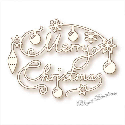 Wild Rose Studio Stanzschablone Merry Christmas SD031