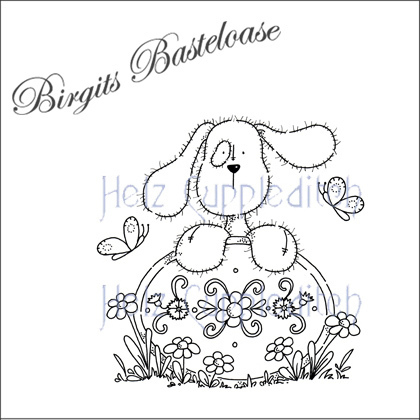 Stampavie Clear Stamp Hund mit Blumen HC000
