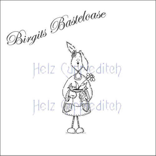 Stampavie Clear Stamp Hase mit Blume HC1413