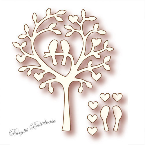 Wild Rose Studio Stanzschablone Love Bird Tree SD009