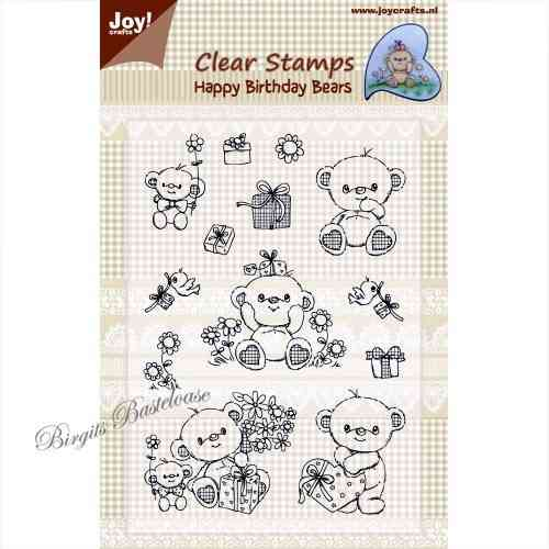 JoyCrafts Clear Stamps Stempel Happy Birthday Bears 0333