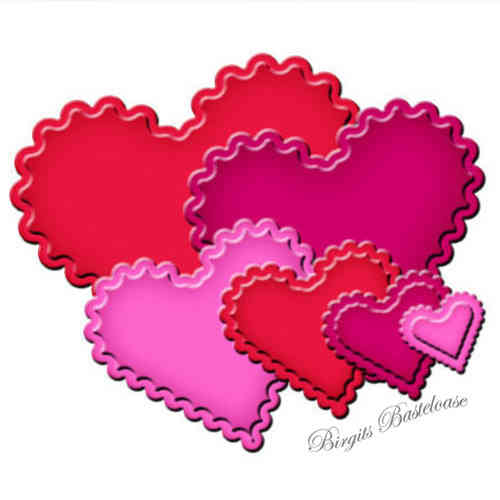 Spellbinders Stanzschablonen Scalloped Hearts S4-137