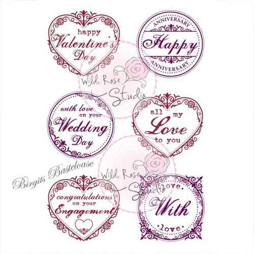 Wild Rose Studio Stempel Romantic Greetings CL371