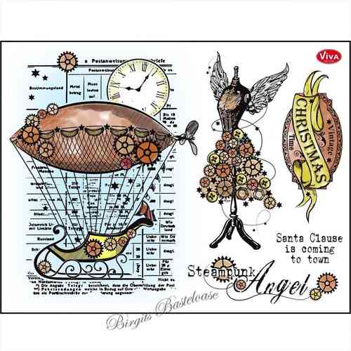 Viva Decor Stempel Clear Stamp Steampunk Angel 114