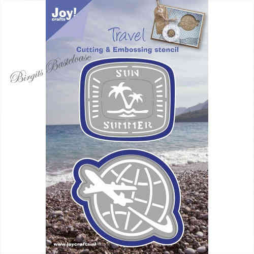 JoyCrafts Stanzschablone Travel Weltkugel 1201/0094