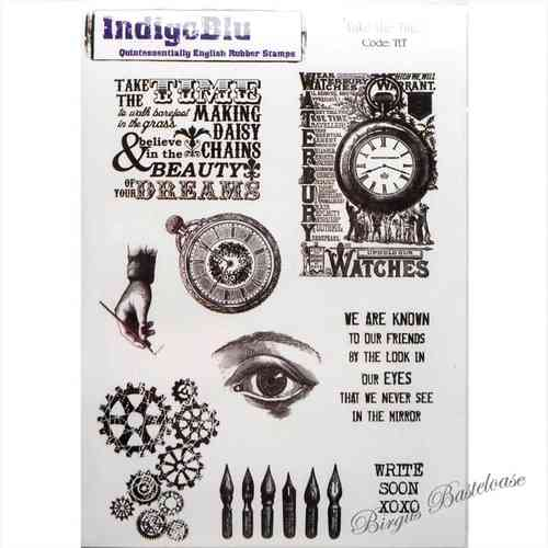 IndigoBlu Stempel Take the Time Uhr 990195