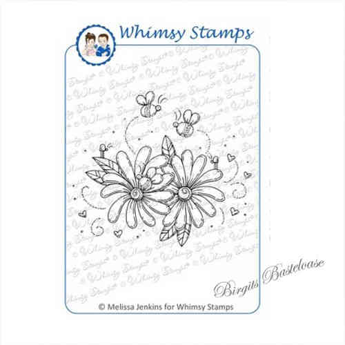 Whimsy Stamps Lazy Susan Buggies MD1076 Blumen