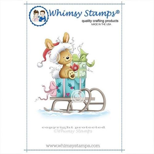 Whimsy Stamps Christmas Bunny SZWS107