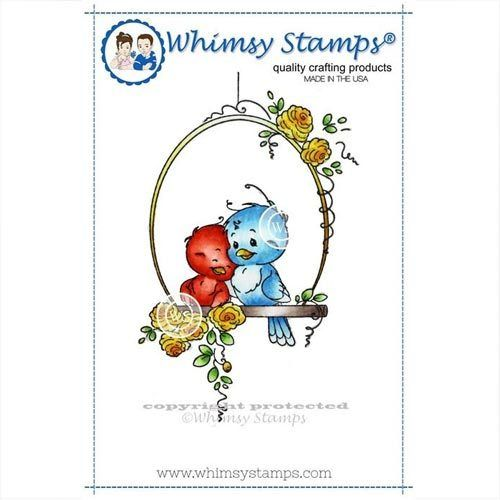 Whimsy Stamps Bird Swing SZWS115