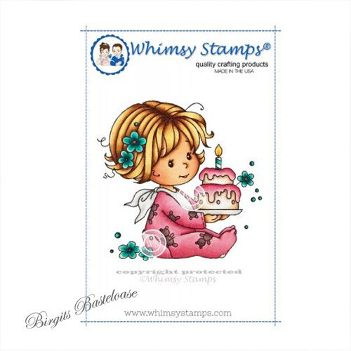 Whimsy Stamps Birthday Baby Girl SZWS137