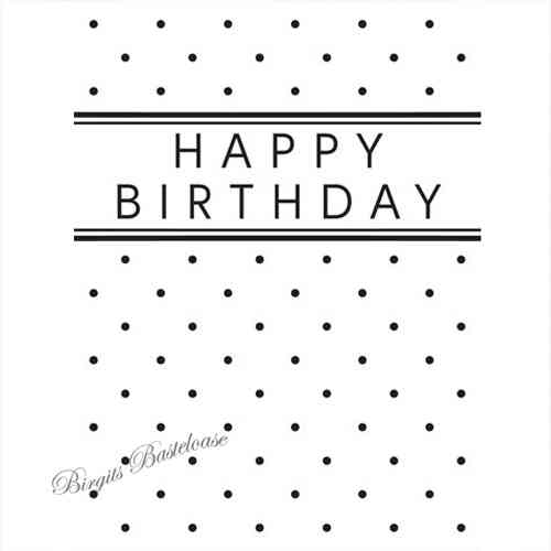 Prägefolder Embossing Folder Happy Birthday D-545
