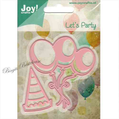 JoyCrafts Stanzschablonen Luftballons Party-Hut 6002/0426