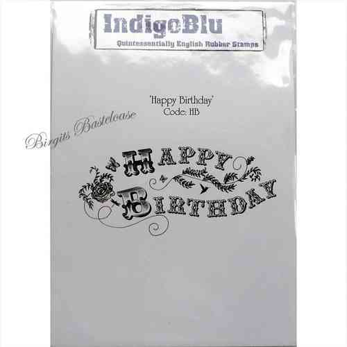 IndigoBlu Stempel Happy Birthday 989830