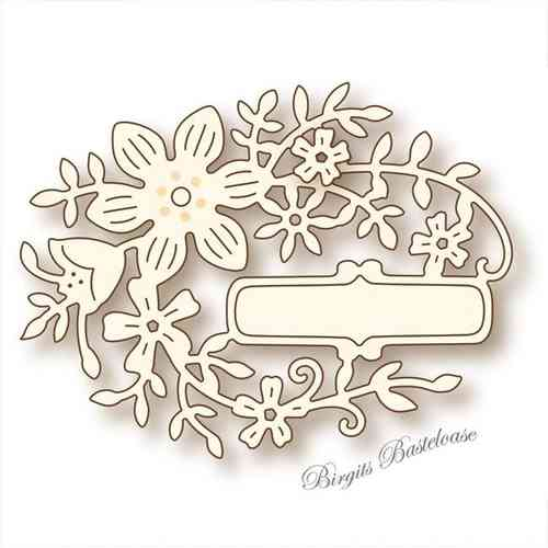 Wild Rose Studio Stanzschablone Oval Flower SD046
