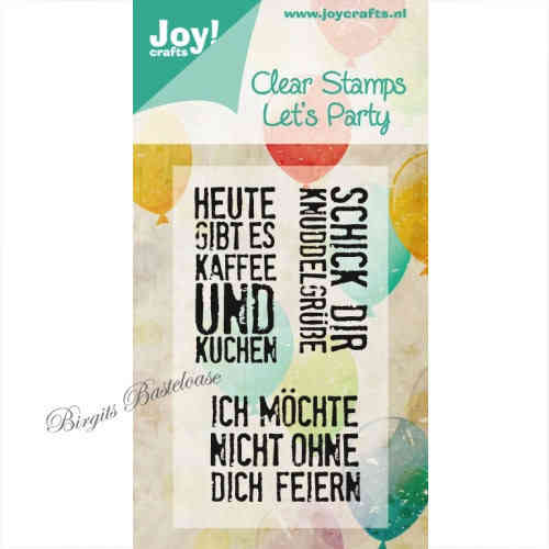 JoyCrafts Clear Stamps Stempel Let's Party 0358