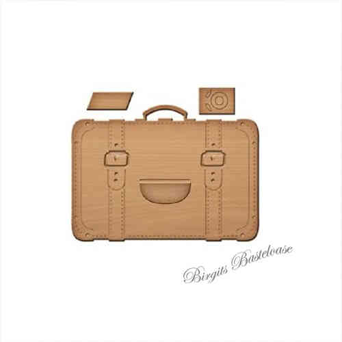 Spellbinders Stanzschablone Koffer Luggage IN-049