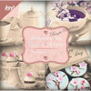 Joy!Crafts Motivblock 10 x 10 cm Afternoon Tea 0070