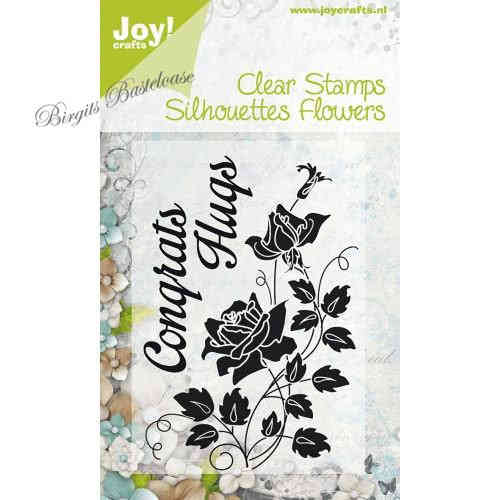 JoyCrafts Clear Stamps Silhouettes Flowers Rosen 0090